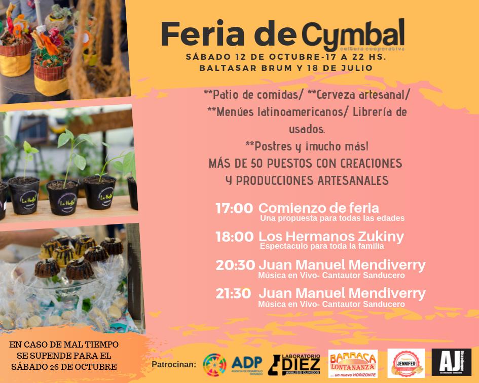 El sábado 12 vuelve la tradicional Feria deCymbal